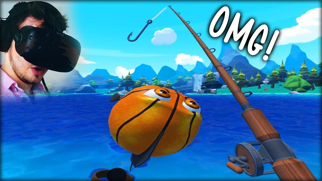 Ich hab einen basketball fisch geangelt wir angeln in for Crazy fishing vr