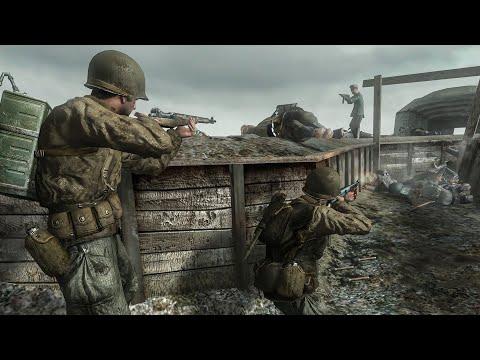 Normandy June 7  1944 - Call of Duty 2 - Part 8 - 4K |