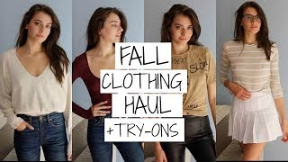 Fall Clothing Haul +Try Ons 2016   Jessica Clements
