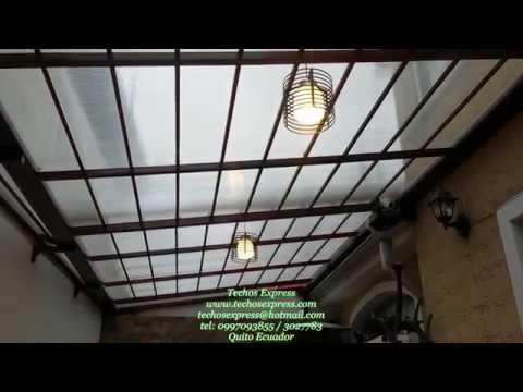 Techos corredizos techos express policarbonato pergolas - Cubiertas para techos ...