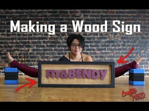 Making a Wood Sign 😎 | CrafterMaker🤓
