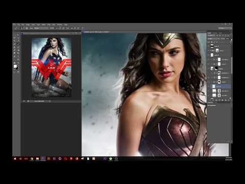 create wonder woman poster effect in photoshop