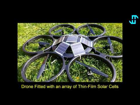Solar Powered Saucer Drone Aircraft