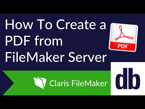 How to Create a PDF from FileMaker Server | DB Services