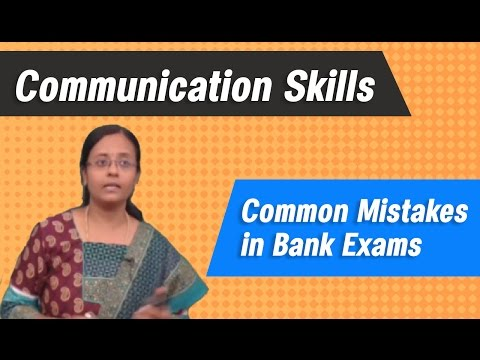 Common Mistake in Bank Exams :: BEST BANK EXAM COACHING CLASSES (IBPS)-- Verbal ability