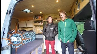 Couple Builds Ultimate DIY Stealth Sprinter Camper Van ~ Tons Of GREAT Ideas