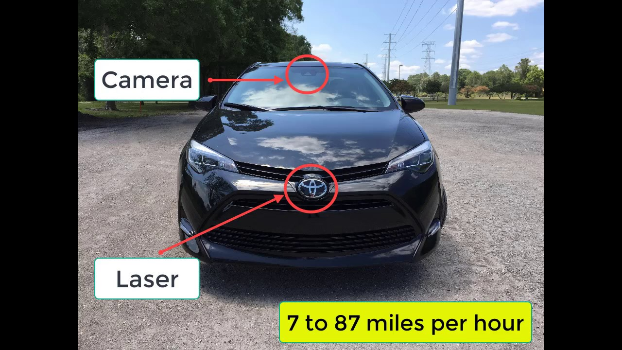2017 Toyota Corolla Pre-Collision System (PCS) Testing