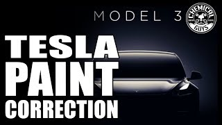 First Look TESLA Model 3 | How To Polish New Paint - Chemical Guys Car Care - Black Paint Polish