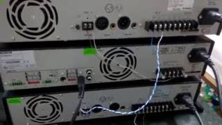 Bosch Public Address System Installation With Mixer Amplifier And Booster Amplifier