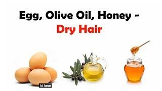 Beauty Forever  Hair Mask For Damaged Hair - (DIY)Olive Oil +Honey +Egg