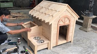 Amazing Woodworking Project Ideas From Old Pallets // Build A Wooden House For Your Dog - DIY!