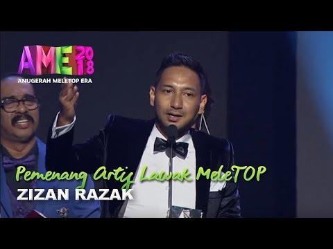 #AME2018 I Zizan Razak | Pemenang Artis Lawak MeleTOP I Anugerah MeleTOP Era 2018