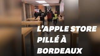 L'Apple store de Bordeaux pillé lors des débordements des gilets jaunes