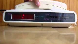 Funcionamiento Radio-Reloj-Teléfono Unistar Blanco | RetroNoventas