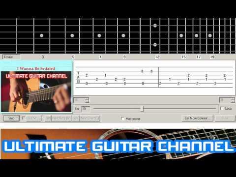 Guitar Solo Tab I Wanna Be Sedated Ramones Youtube