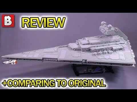 UCS Imperial Star Destroyer LEGO Set 75252 Full Review! + Comparison to Original