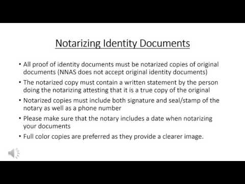 NNAS Applicant Guide to Identity Documents - English