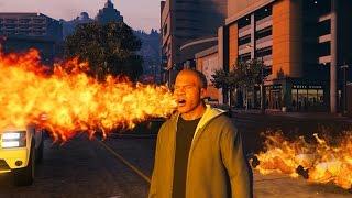 GTA 5 FIRE BREATHER MOD! (Spit Fire)