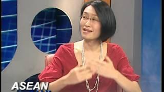 Shoko Ishikawa, Acting Regional Director, is interviewed by ASEAN TV on Myanmar
