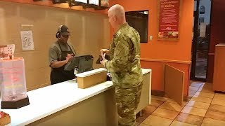 Soldier Goes To Order Taco Bell Meal, Stops Cold When Hearing 2 Boys Behind Him