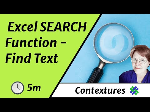 Find Text in String With Excel SEARCH Function