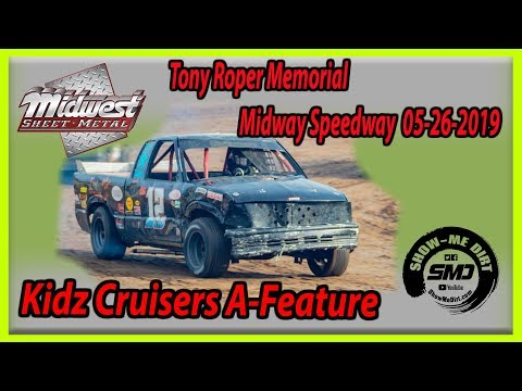 S03-E258 Tony Roper Memorial Kidz Cruisers A-Feature Lebanon Midway Speedway 05-26-2019