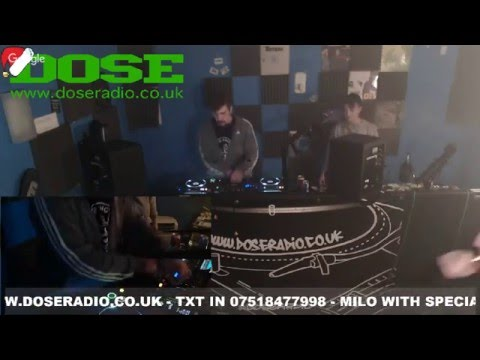 MILO WITH SPECIAL GUEST KYX 22nd DEC - DRUM & BASS - DOSE RADIO