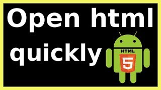 how to open html page in android phone Mp3