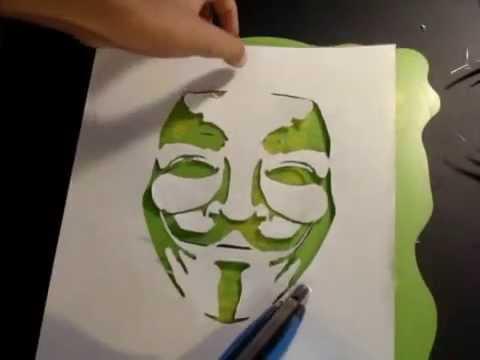 V For Vendetta Stencil Stencil nº 2 m&#2...