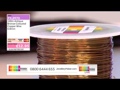 HOW TO MAKE JEWELLERY USING MEMORY WIRE - JewelleryMaker LIVE 12/03/2014