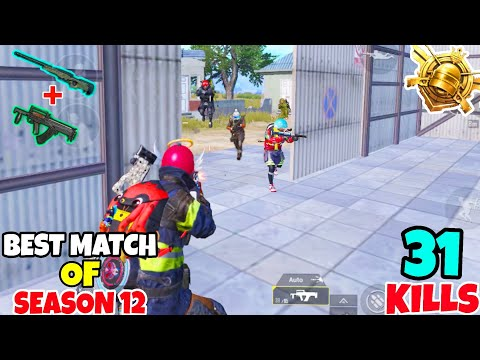My Best Match Of Season 12 Using BEST Combo In PUBG Mobile • (31 KILLS) • PUBGM (HINDI)
