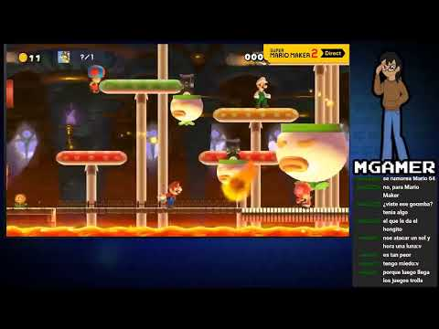 Reacción Super Mario Maker 2 Direct
