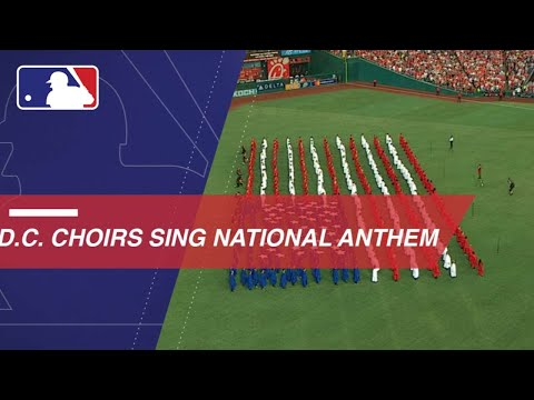 Washington, D C  Community Choirs sing the national anthem - YouTube