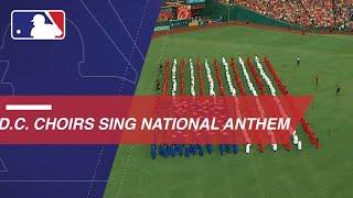 Washington, D.C. Community Choirs sing the national anthem
