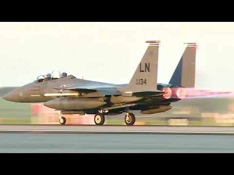 F-15E Strike Eagle Jets @ RAF Lakenheath