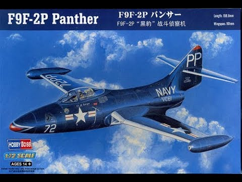 Hobby Boss 1/72 scale F9F-2 Panther Build-log and Reveal