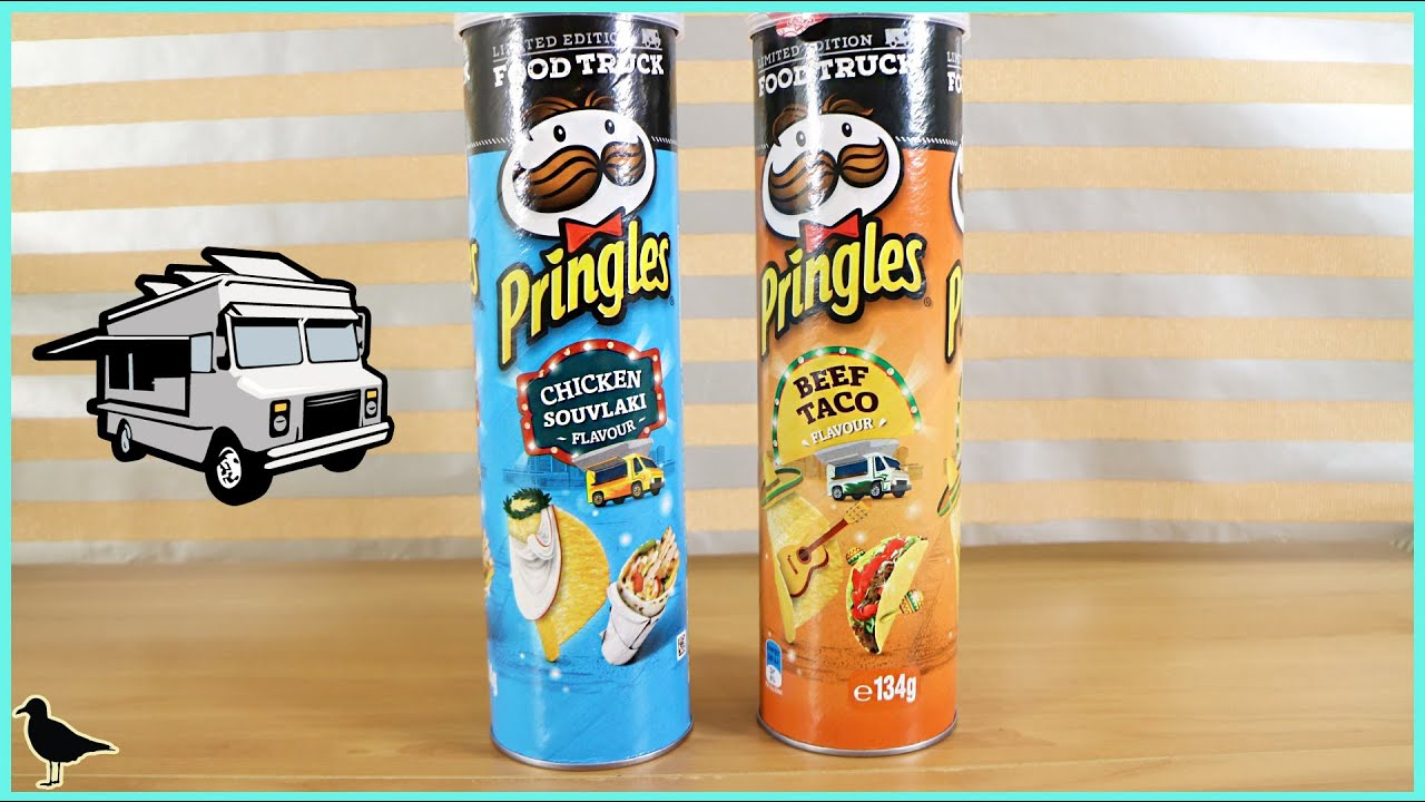 Limited Edition Pringles Food Truck Flavours Chicken Souvlaki Beef Taco Tasting Birdew Reviews Youtube