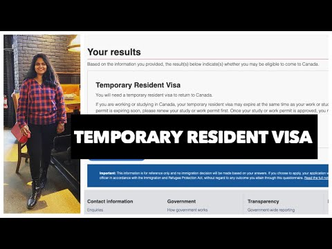 Temporary Resident Visa - Canada | Application Process
