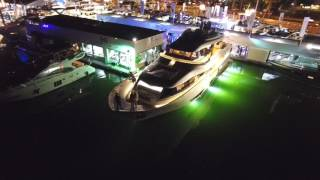 The charming Ferretti Group display at the Yachts Miami Beach 2017