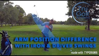 ARM POSITION AT SET UP WITH IRONS & WOODS