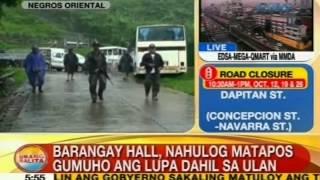UB: Barangay hall sa Negros Oriental, nahulog matapos gumuho ang lupa dahil sa ulan