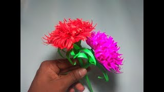 How to Make Beautiful Paper flower | Making paper flowers | tech gear