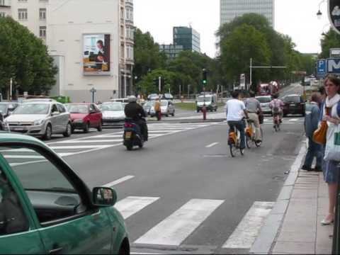 Cycling in Brussels Belgium