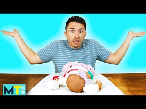 Men Try Taking Care of a Newborn Baby