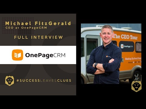 Michael FitzGerald - Founder & CEO of OnePageCRM