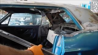 1968 Mustang drip rail repair.