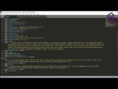 Membuat Report PDF Dengan Library FPDF Di PHP Bag 14 - Menambahkan Link Ke Halaman Lain
