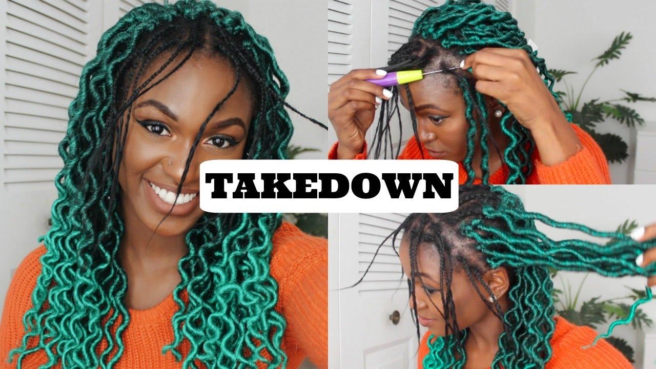 How To Takedown Individual Crochet Faux Locs Braids