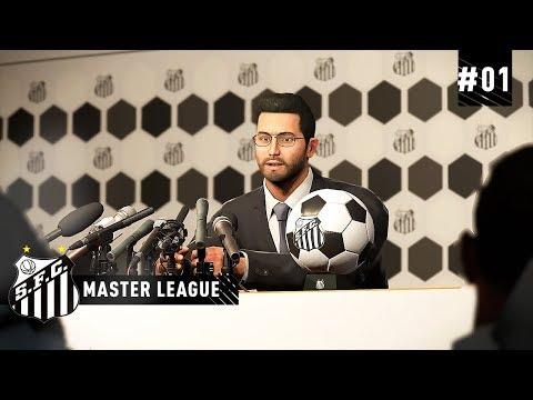 O INÍCIO COM O SANTOS FC  - MASTER LEAGUE 01  PES 2019