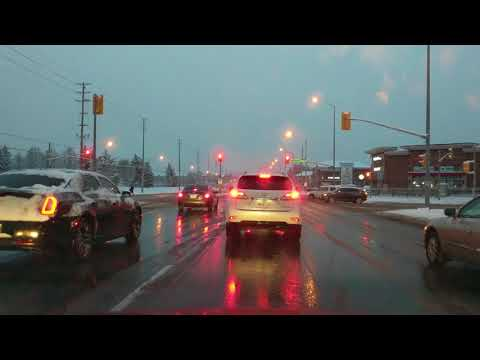 [4K] Morning Commute after Snowfall Brampton to Mississauga Canada